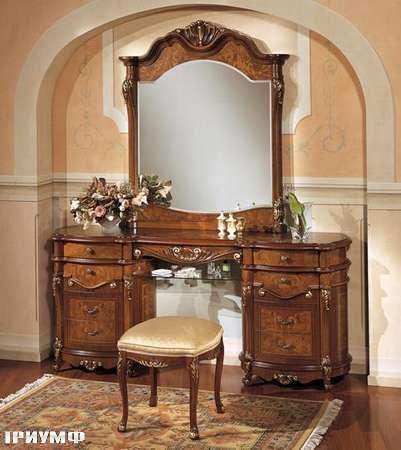 Итальянская мебель Grilli - Туалетный стол с зеркалом и пуфом