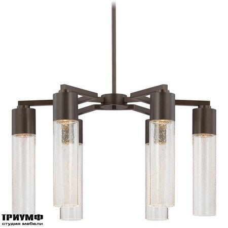 Американская мебель George Kovacs - 6 Light Chandelier with Copper Bronze Patina finish