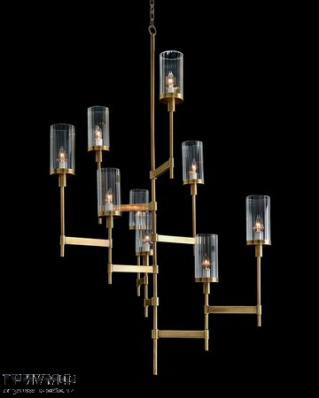 Американская мебель John Richard - Asymmetrical Brass Plated Nine Light Chandelier