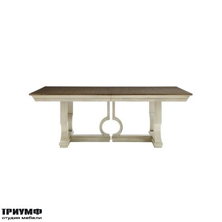 Американская мебель Stanley - Oasis Moonrise Pedestal Dining Table in Oyster