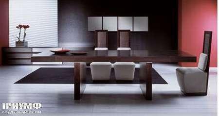 Итальянская мебель Rattan Wood - Стол Mood, стул Ekspress