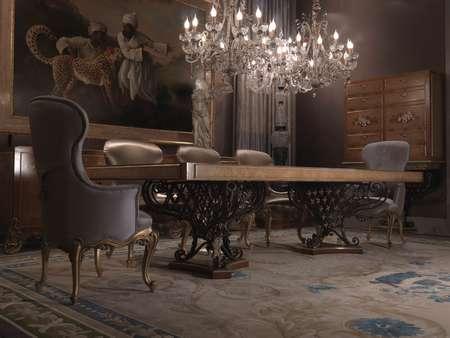 Итальянская мебель Jumbo Collection - Стол на резных ногах Hermes