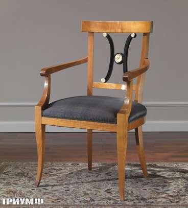 Итальянская мебель Colombo Mobili - Рабочее кресло в стиле Бидермайер арт. 203.Р кол. Corelli