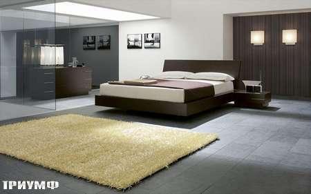 Итальянская мебель Presotto - кровать Sigma в венге