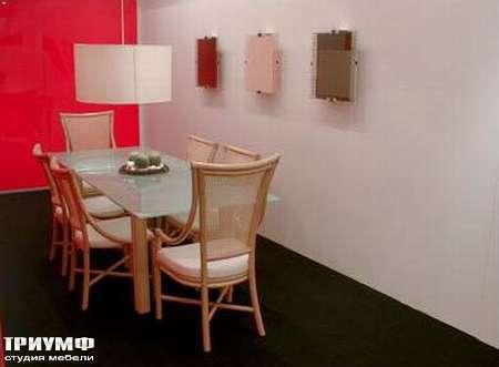 Итальянская мебель Rattan Wood - Стол Regina Alta, стул Ambra