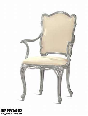 Итальянская мебель Chelini - Полукресло изящное, дерево, кожа
