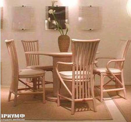 Итальянская мебель Rattan Wood - Стол Savana, стул Fiore
