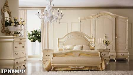 Итальянская мебель Grilli - Кровать с высокой спинкой и изножьем