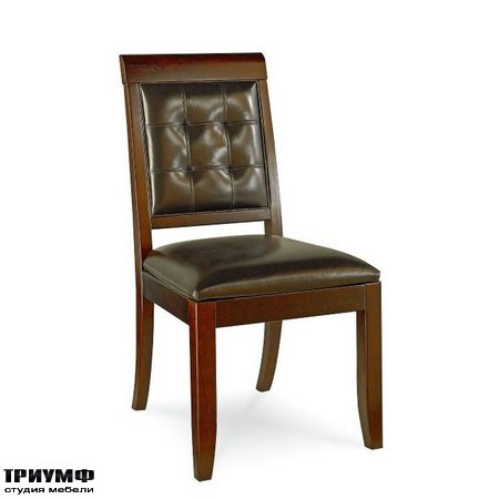 Американская мебель Hammary - UPHOLSTERED LEATHER SIDE CHAIR