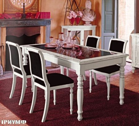 Итальянская мебель Tonin casa - раздвижной стол и стулья