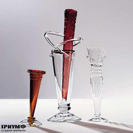 Итальянская мебель Driade - Вазы с красным стеклом Alioscia
