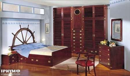 Итальянская мебель Caroti - Кровать со штурвалом, коллекция CMA