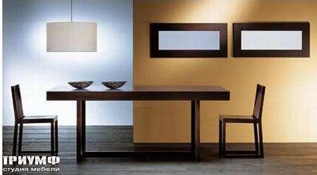 Итальянская мебель Rattan Wood - Стол Witt, стул Alea