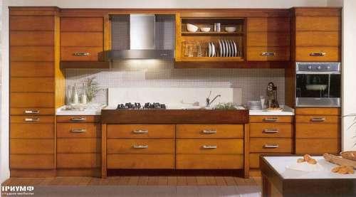 Итальянская мебель Arca - Кухня Orizzonti массив ореха