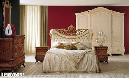 Итальянская мебель Grilli - Кровать с короной в изголовье, прикроватные тумбы