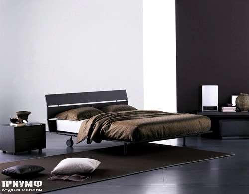 Итальянская мебель Flou - кровать tadao wenge cp brillante