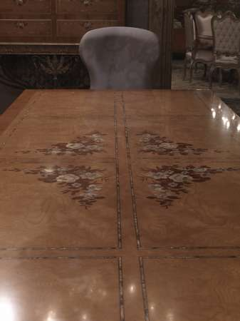 Итальянская мебель Jumbo Collection - Cтол с инкрустированной столешницей