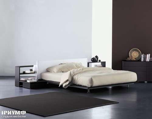 Итальянская мебель Flou - кровать vico wenge cp sporting