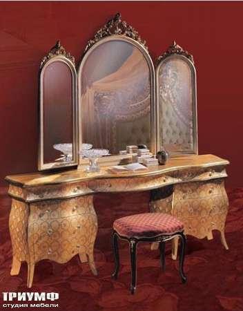 Итальянская мебель Ezio Bellotti - Туалетный столик, зеркало, пуф