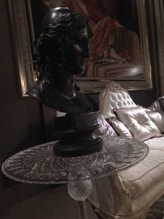 Итальянская мебель Jumbo Collection - Cтолик приставной в стекле