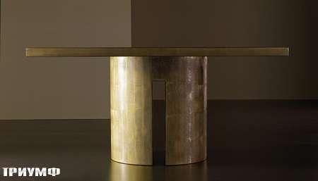 Итальянская мебель Meridiani - стол Gong в золоте