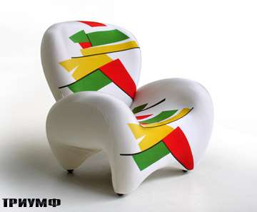 Итальянская мебель Rossi di albizzate - кресло раскрашенное Shu