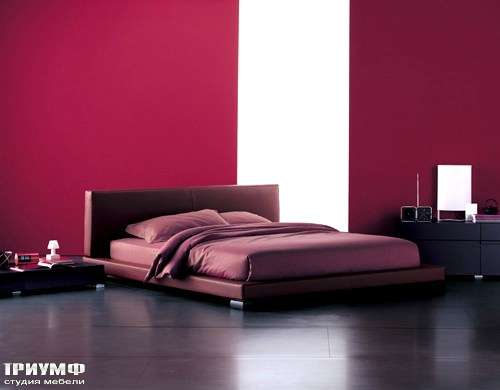 Итальянская мебель Flou - кровать vulcanpellecpsidney