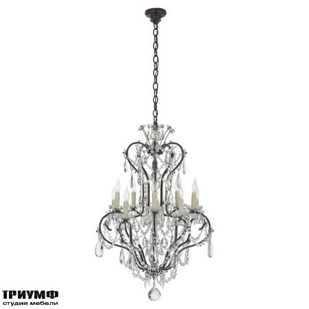 Американская мебель Ralph Lauren Home - ALESSANDRA SMALL CHANDELIER IN ANTIQUED GILD