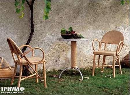 Итальянская мебель Rattan Wood - Стул Onda, стол Rodi
