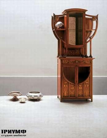 Итальянская мебель Medea - Витрина с отрытыми элементами и интарсией, арт. 922