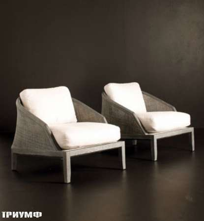 Итальянская мебель Potocco - кресла Grace с плетенкой