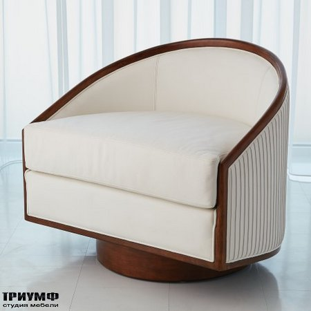 Американская мебель Globalviews - Swivel Chair White Leather
