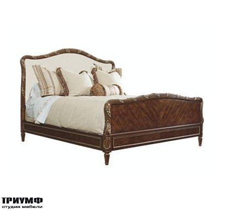 Американская мебель Henredon - Bed with Upholstered Headboard