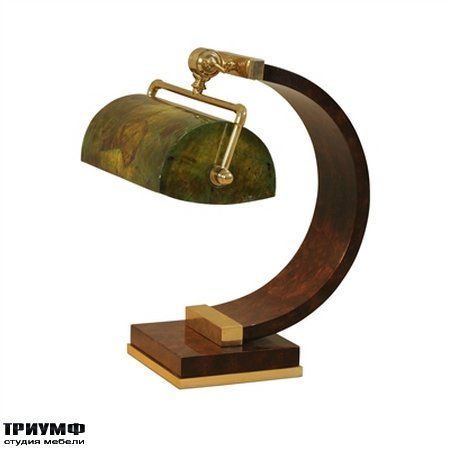 Американская мебель Maitland-Smith - European Walnut Burl Inlaid Desk Lamp