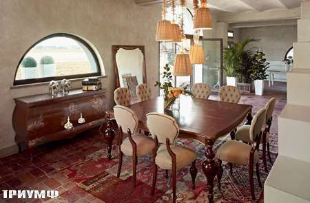 Итальянская мебель Volpi - комод Diletta  и стол Emma