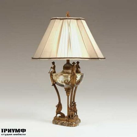 Американская мебель Maitland-Smith - Lipshell Inlaid Neoclassic Urn Lamp