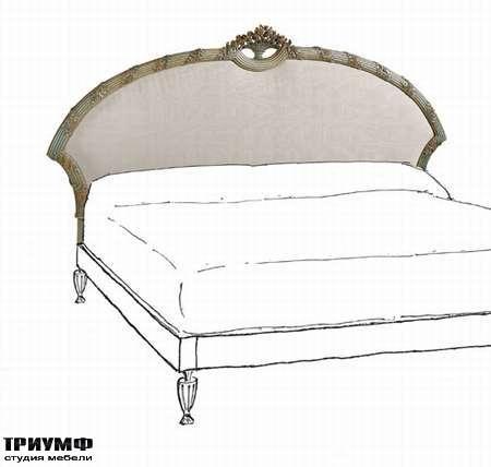 Итальянская мебель Chelini - Изголовье кровати с короной
