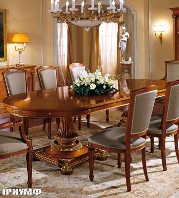 Итальянская мебель Colombo Mobili - Обеденный стол в имперском стиле арт. 321.RT кол. Corelli
