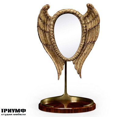 Американская мебель Jonathan Charles - Classical Winged High Lustre Santos Dressing Mirror
