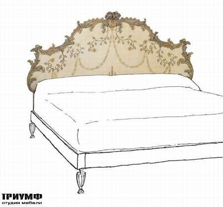 Итальянская мебель Chelini - Спинка кровати с розами