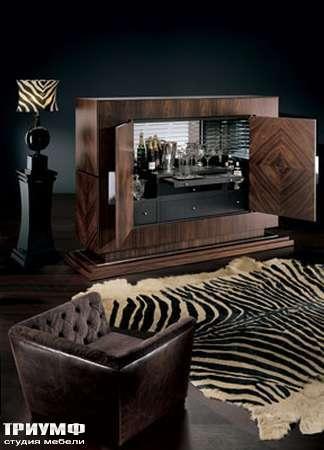 Итальянская мебель Smania - Шкаф барный открытый Victory Deluxe в палисандре
