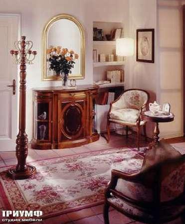 Итальянская мебель Ezio Bellotti - Комод в дереве со стеклом
