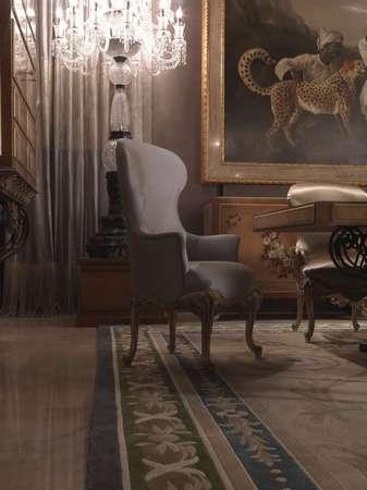 Итальянская мебель Jumbo Collection - Полукресло в ткани Hermes
