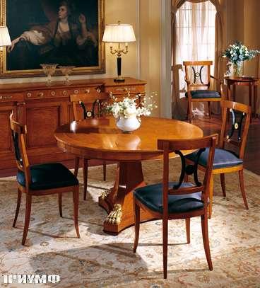 Итальянская мебель Colombo Mobili - Обеденный стол в имперском стиле арт.104 кол. Corelli