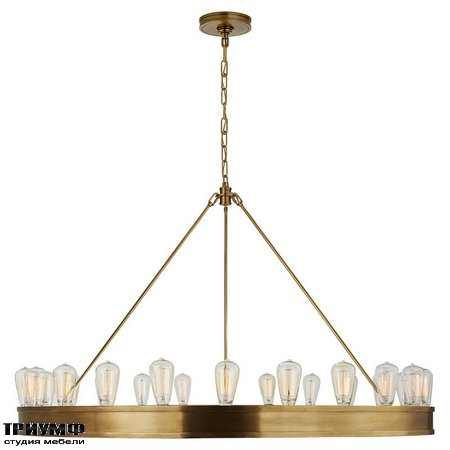 Американская мебель Ralph Lauren Home - ROARK 50in MODULAR RING CHANDELIER IN NATURAL BRASS