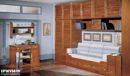 Итальянская мебель Caroti - Стол письменный и стенка коллекция CMA
