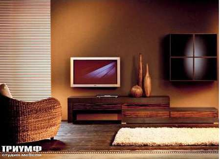 Итальянская мебель Rattan Wood - Стенка под ТВ Wiwa