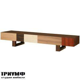 Итальянская мебель Morelato - Низкая тумба из разных пород дерева