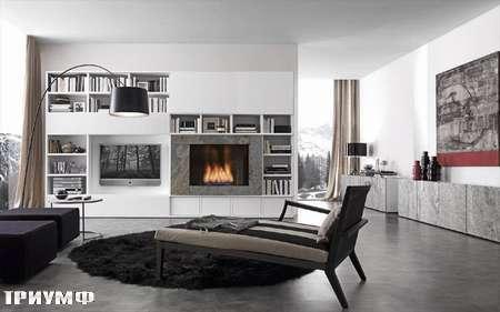 Итальянская мебель Presotto - Стенка Layout с камином