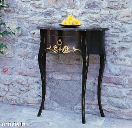 Итальянская мебель Tonin casa - придиванный столик в черном дереве